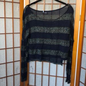 Urban outfitters cropped disco sweater